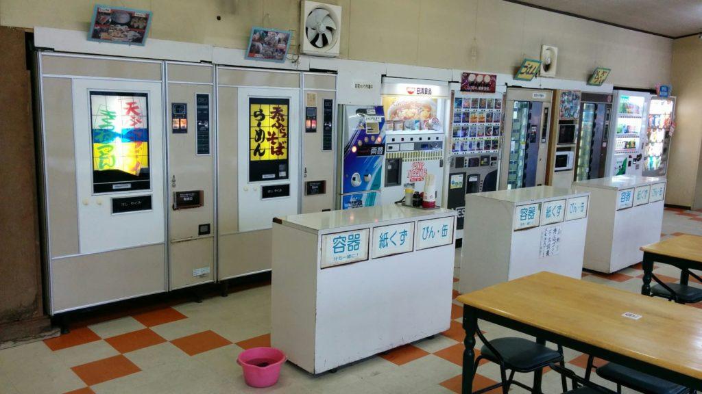 富士電機めん類自動調理販売機が2台稼働中