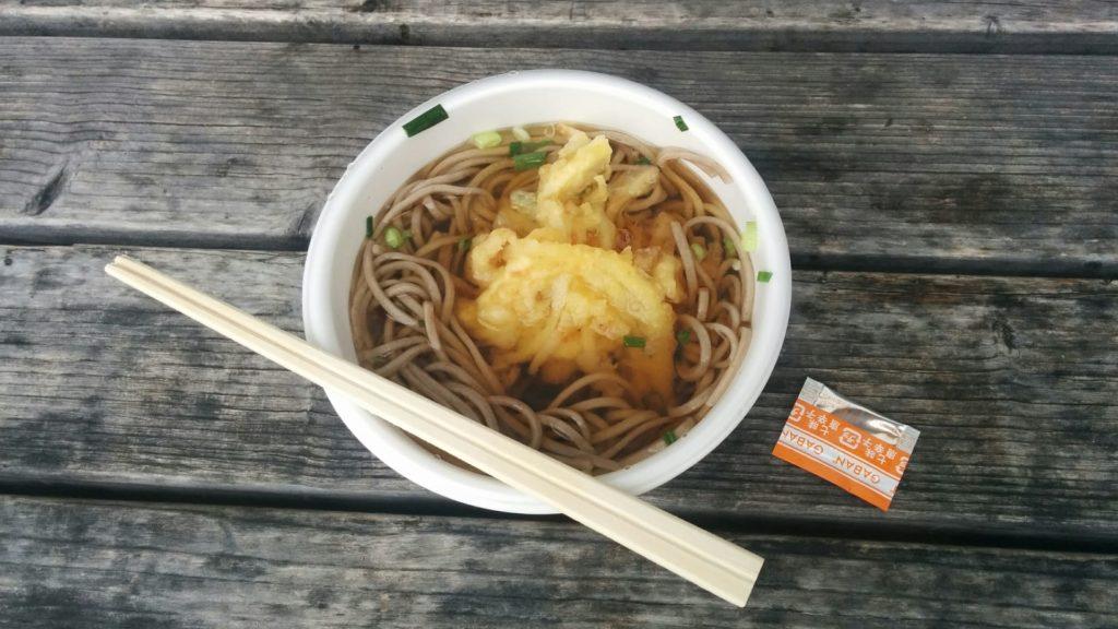 天ぷらそば:250円