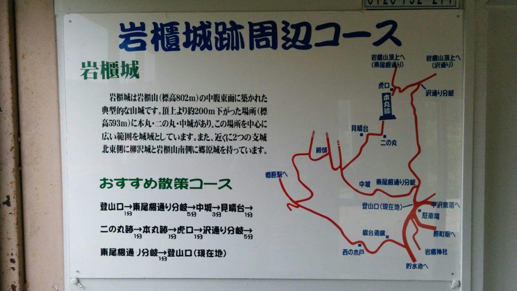 岩櫃城跡周辺コース