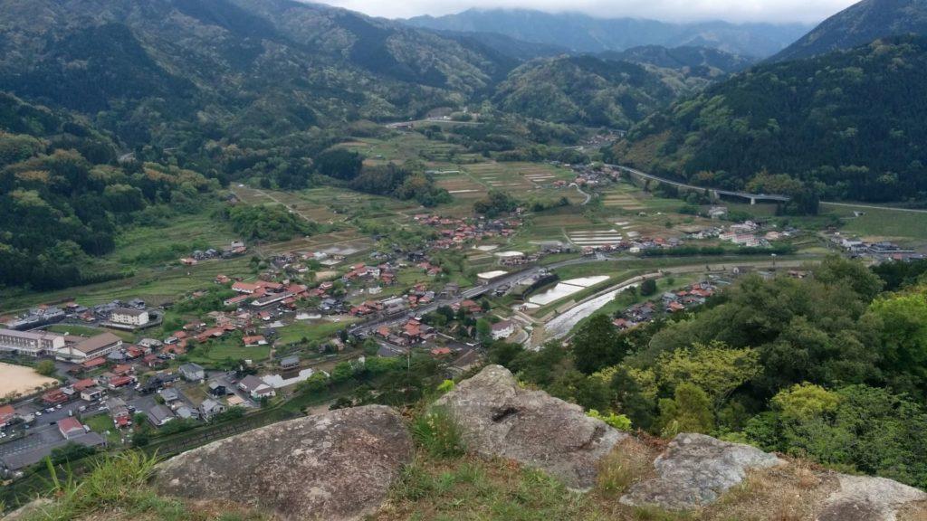 津和野城天守台からの眺望